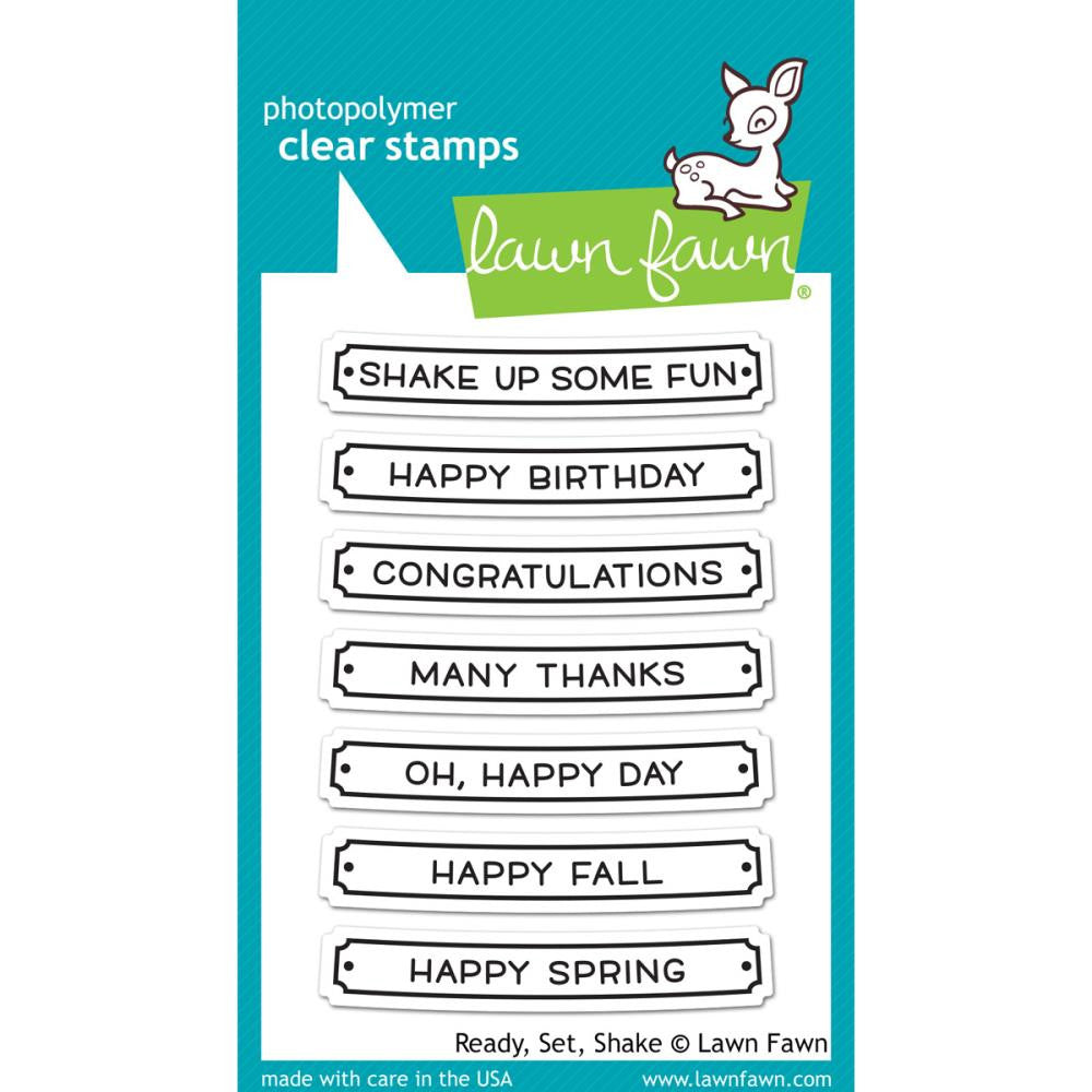 "Lawn Fawn Clear Stamps - Ready, Set, Shake 3""X4"""