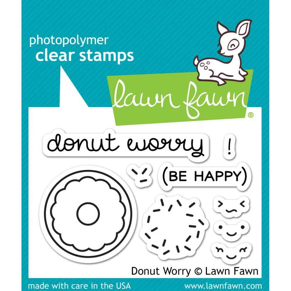 "Lawn Fawn - 2""x3"" Clear Stamp Set- Donut Worry"