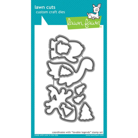 Lawn Cuts Custom Craft Die - Lovable Legends (Coordinates with Lovable Legends stamp set)