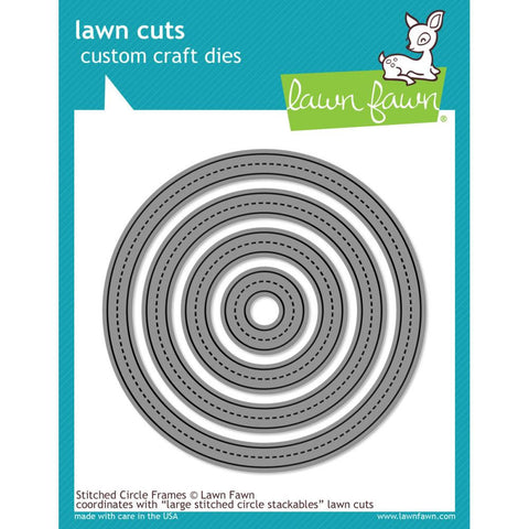 Lawn Cuts Custom Craft Die - Stitched Circle Frames