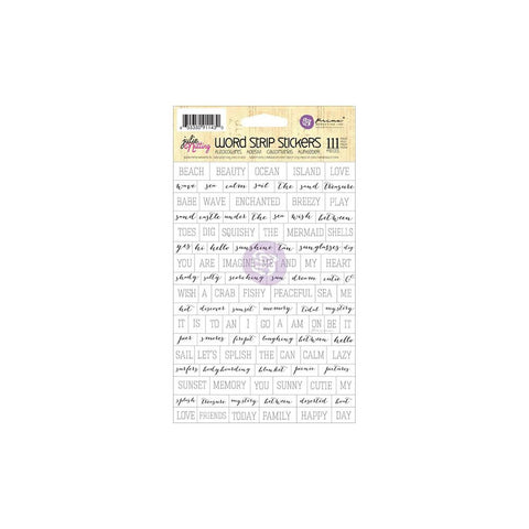 Prima Marketing Julie Nutting Mixed Media Stickers - Word Strips