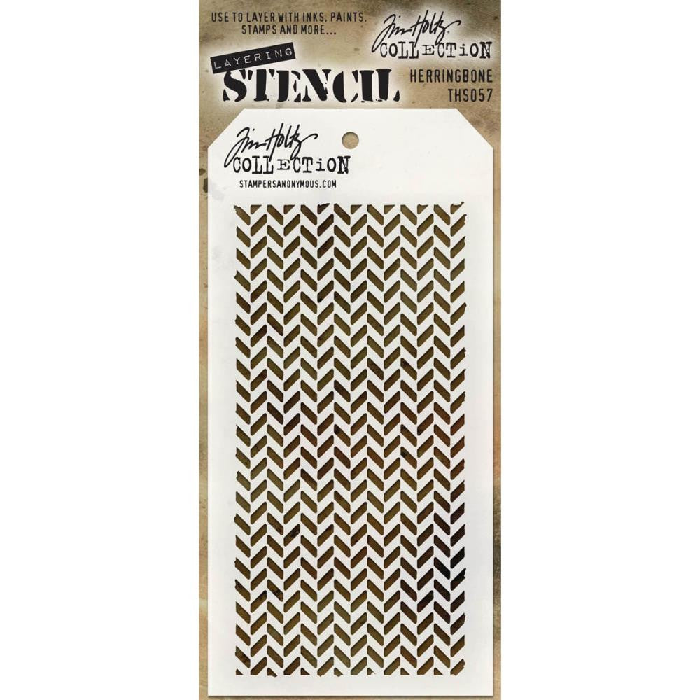 Stampers Anonymous - Tim Holtz - Layering Stencil -  Herringbone