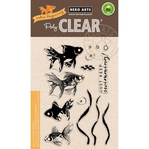 "Hero Arts, Clear Stamp, 4"" x 6"" - Color Layering Goldfish"