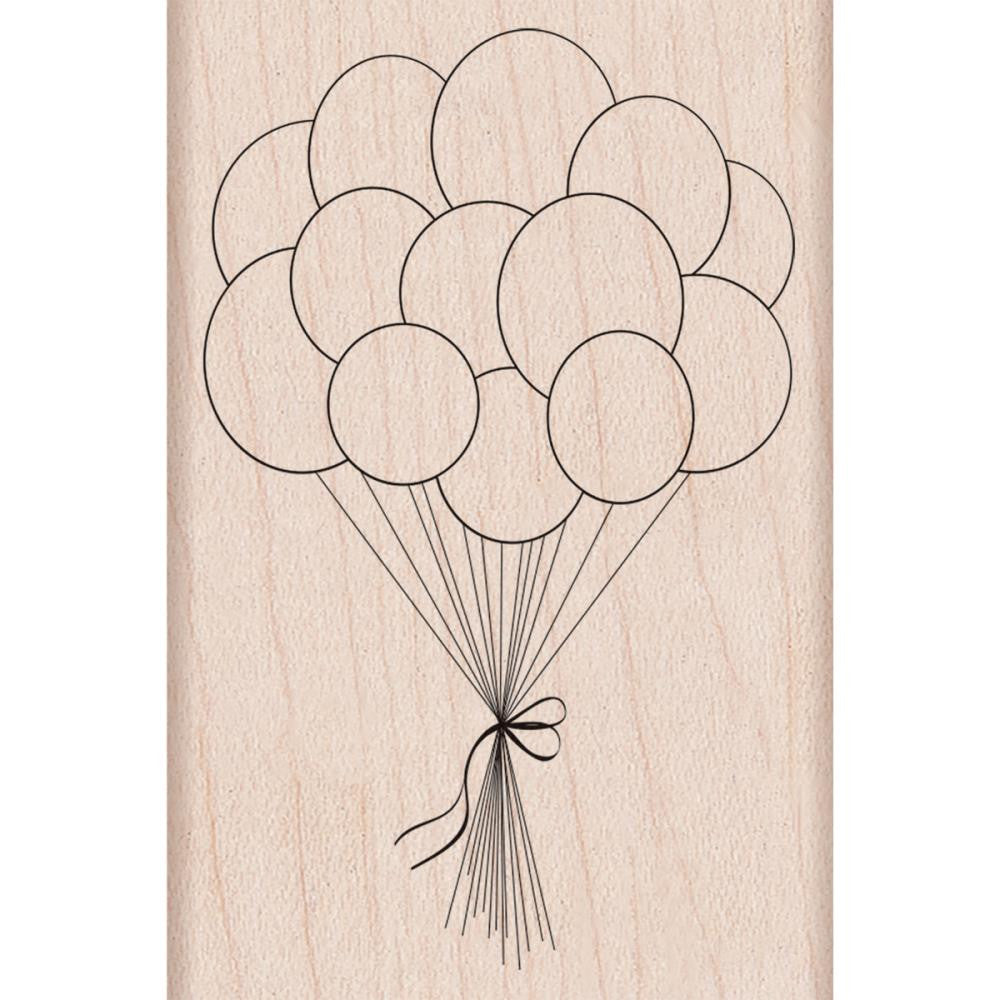 "Hero Arts, Mounted Rubber Stamp, 2.75""X3.25"" - Birthday Balloons"