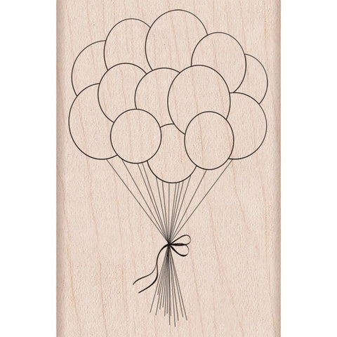"***New Item*** Hero Arts, Mounted Rubber Stamp, 2.75""X3.25"" - Birthday Balloons"