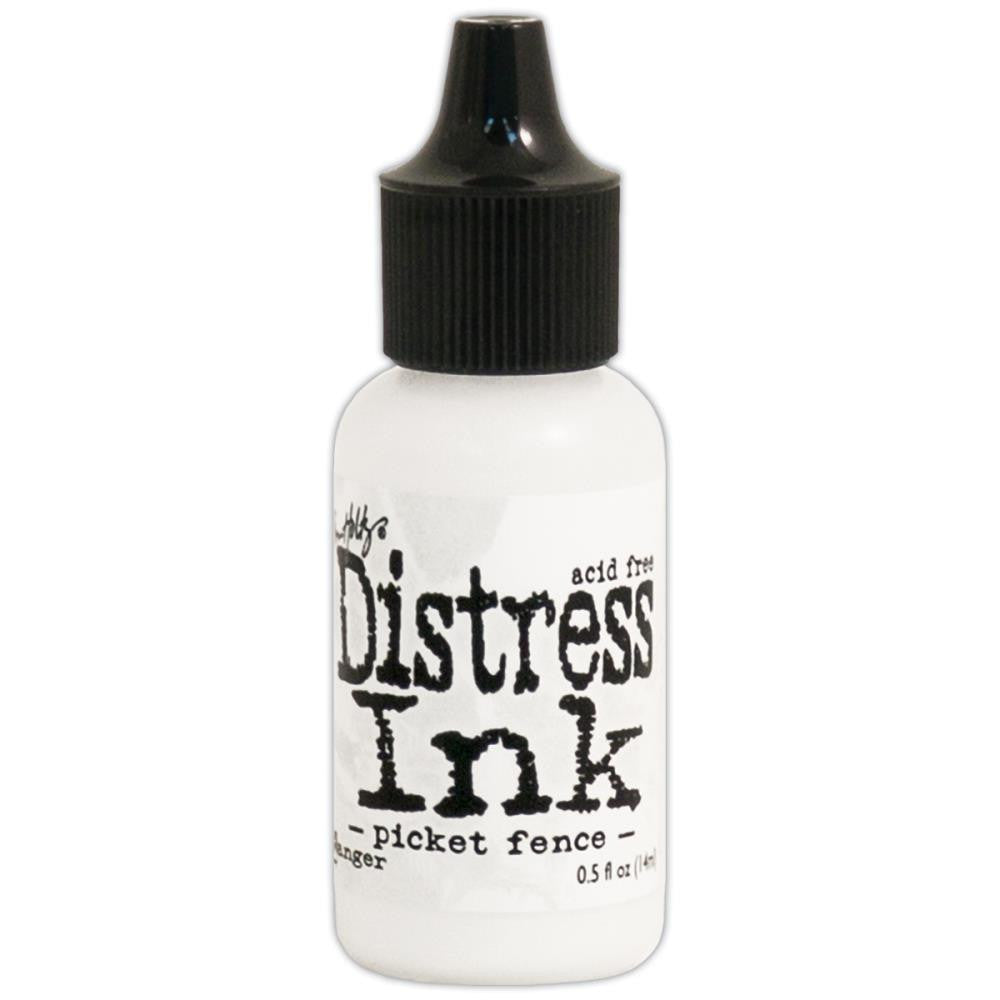 Ranger - Tim Holtz Distress Re-inker, Refills .05 oz bottle with dropper Picket Fence