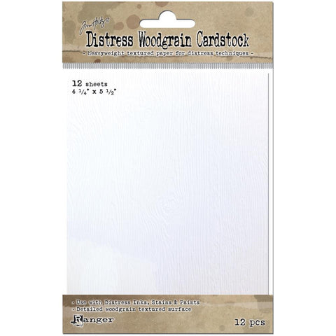 "***New Item*** Ranger , Tim Holtz,  Distress Woodgrain Paper 4.25"" x 5.5"" - 12 Sheets"