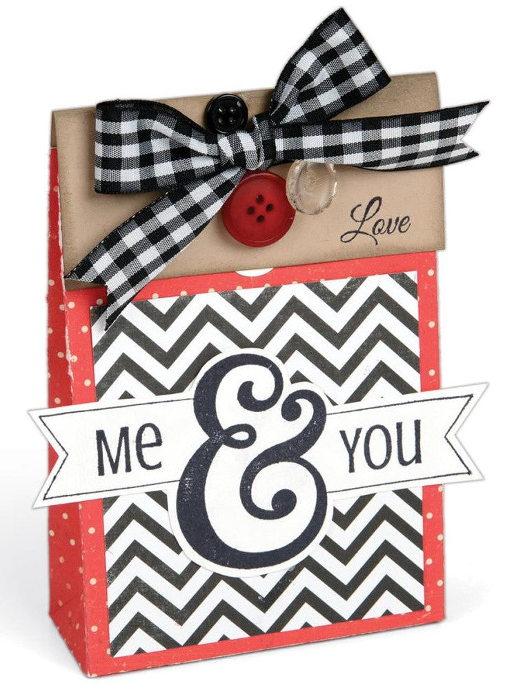 Sizzix - Interchangeable Clear Stamps By Jen Long - Me & You