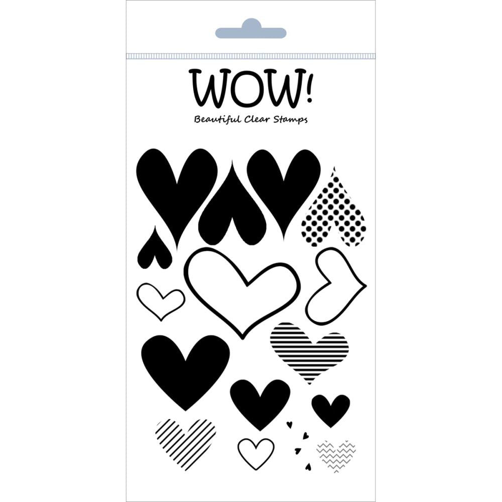 "WOW! Clear Stamp Set 4""X5.75"" - Layered Hearts"