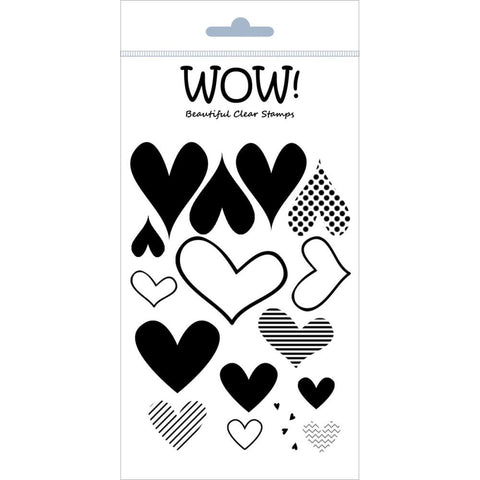 "***New Item*** WOW! Clear Stamp Set 4""X5.75"" - Layered Hearts"