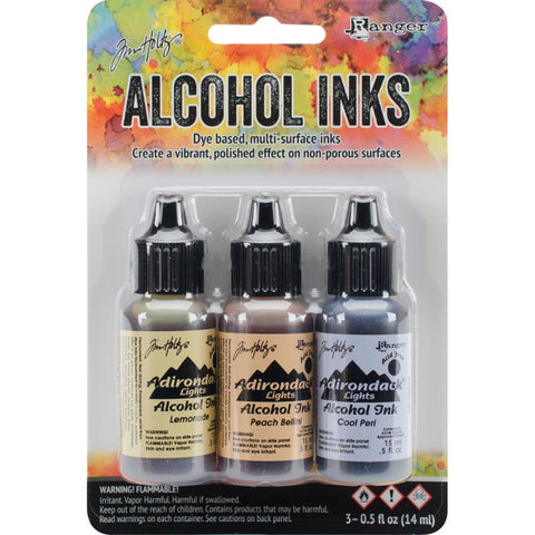 (Pre-Order) Tim Holtz - Alcohol Ink by Ranger - Wildflowers-Lemonade/Peach Bellini/Peri