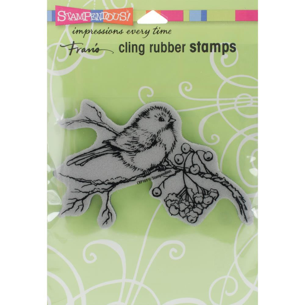 "Stampendous Cling Stamp 4.75""X4.5"" -Snow Bird"
