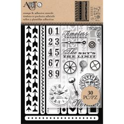 Art-C Stencil & Clear Stamp Border Strips