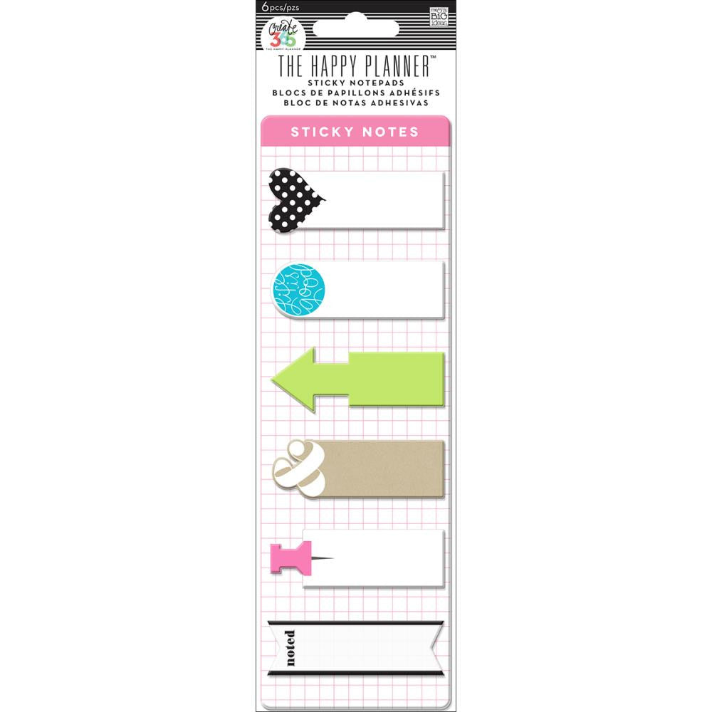 Me & My Big Ideas - Create 365 The Happy Planner Sticky Notepads - 6 designs