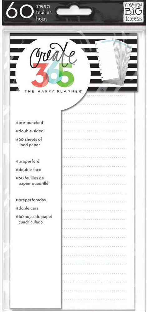 Me & My Big Ideas - Create 365 The Happy Planner - Fill Paper - Blue Lined