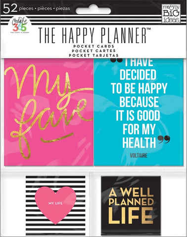 Me & My Big Ideas - Create 365 Happy Planner Pocket Cards