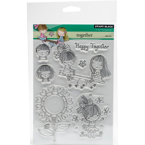"***New Item*** Penny Black Clear Stamp, 5""X7"" Sheet - Together"