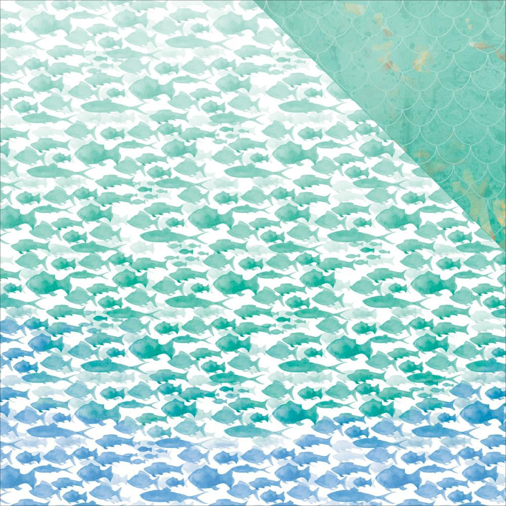 "Kaisercraft Mermaid Tails Double-Sided Cardstock 12""X12"" - Aquarium"