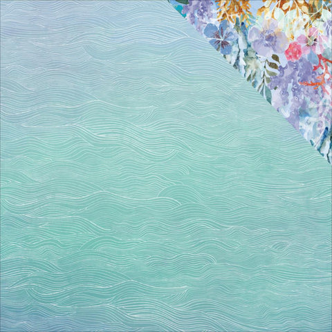 "Kaisercraft Mermaid Tails Double-Sided Cardstock 12""X12"" - Ripples"