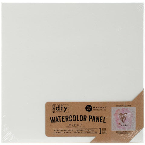 "Prima Marketing Watercolor Canvas Panel - 8"" x 8"""