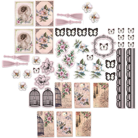 ***New Item*** Ultimate Crafts, Magnolia Lane Diecut - Ephemera