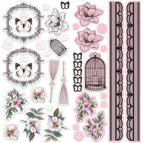 ***New Item*** Ultimate Crafts - Magnolia Lane Adhesive Chipboard