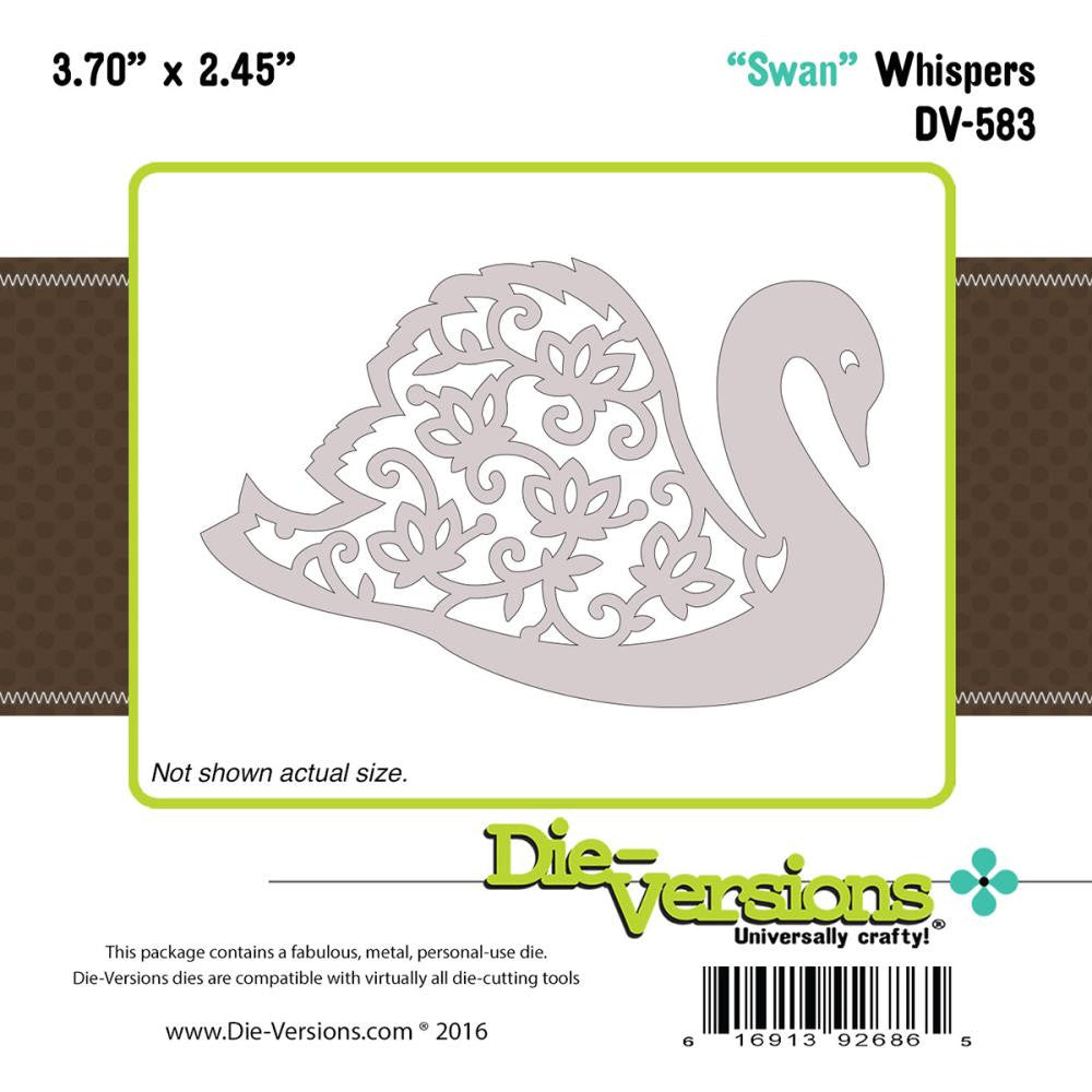 "Die-Versions Whispers Die - Swan 3.70""X2.45"""