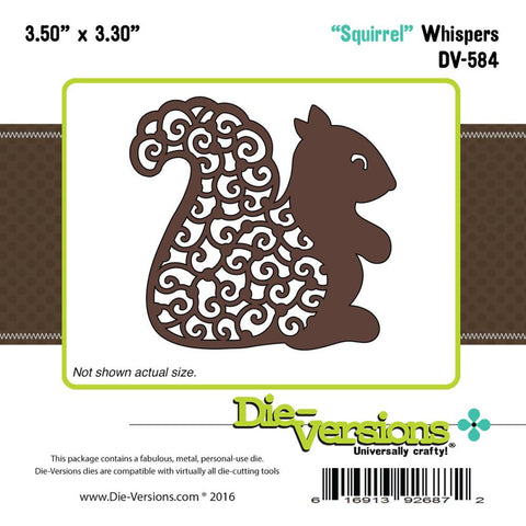 "Die-Versions Whispers Die - Squirrel 3.5""X3.3"""