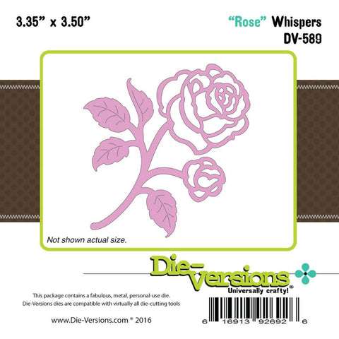 "Die-Versions Whispers Die - Rose 3.35""X3.5"""