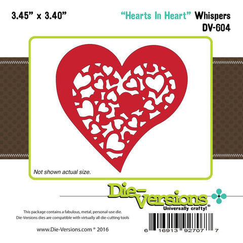 "Die-Versions Whispers Die - Hearts In Heart 3.45""X3.4"""