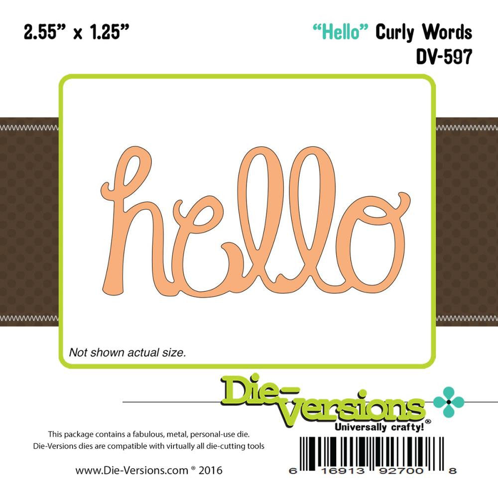 "Die-Versions Whispers Die - Hello 2.55""X1.25"""