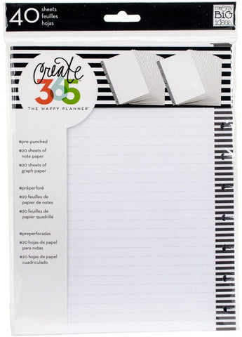 Me & My Big Ideas - Create 365 The Happy Planner - Fill Paper - Graph