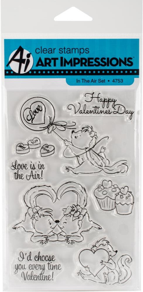 Art Impressions - Valentine's Cling Rubber Stamp Set - In The Air(available 03/01)