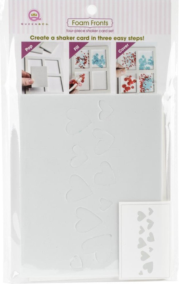 Queen & Co - Foam Front Card Kit - Hearts