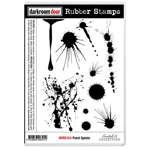 "Darkroom Door - Cling Stamps 7""x5"" - Paint Splats"