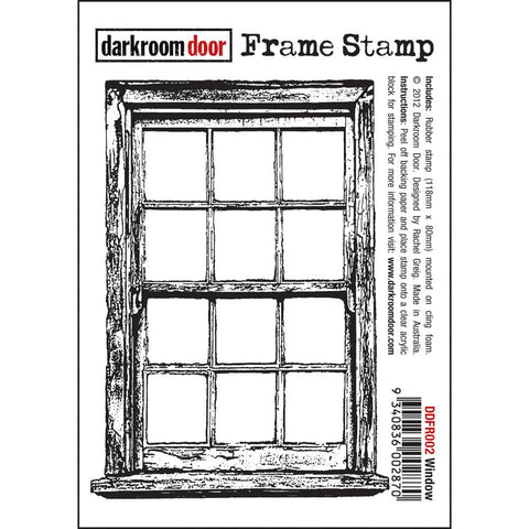 "Darkroom Door - Cling Stamps 4.5""X3"" - Window"
