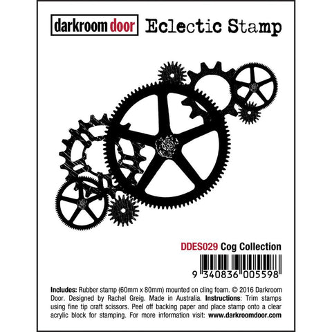 "Darkroom Door - Cling Stamps 3""x2"" - Cog Collection"