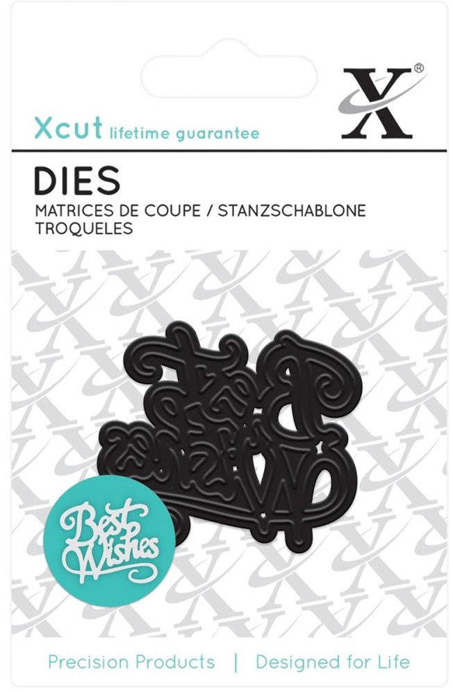 Xcut Decorative Dies - Best Wishes