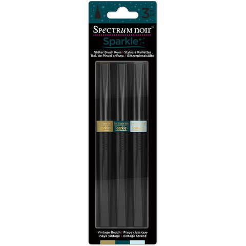 Crafter's Companion Spectrum Noir Sparkle Markers - Vintage Beach - Pack of 3