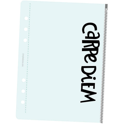 Simple Stories Carpe Diem Planner Essentials A5 Zippered Plastic Storage Pouch