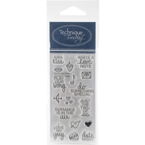 "***New Item*** Technique Tuesday, Clear Stamps, 2"" x 4"" - Planner-Kiss"