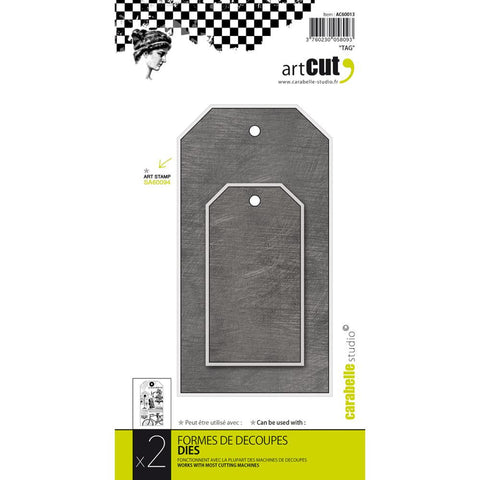 ***New Item*** Carabelle Studio - Carabelle Art Cut Die - Tags, 2/Pkg