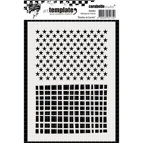 ***New Item*** Carabelle Studio - Template A6 - Stars & Squares