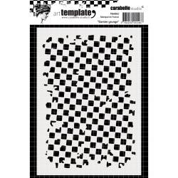 Carabelle Studio - Template A6 - Grunge Check Pattern