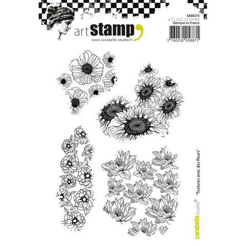 Carabelle Studio - Cling Stamp A6 - Textures With Flowers