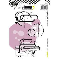 Carabelle Studio - Cling Stamp A6 - Grunge Labels