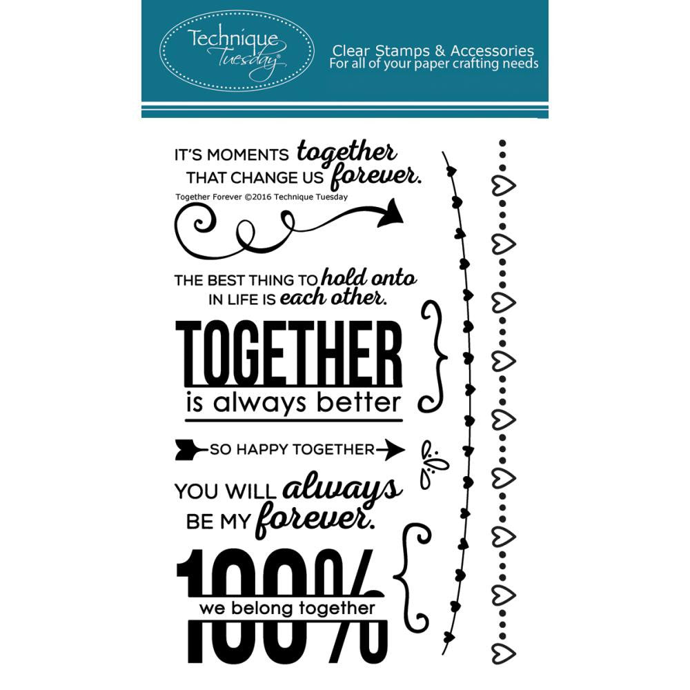 "Technique Tuesday, Clear Stamps, 4"" x 6"" - Together Forever"