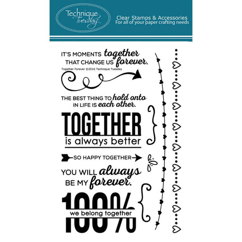 "***New Item*** Technique Tuesday, Clear Stamps, 4"" x 6"" - Together Forever"