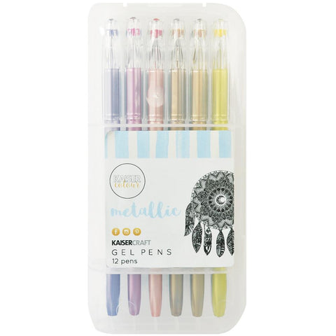 ***New Item*** KaiserColour Gel Pens 12/Pkg - Metallic