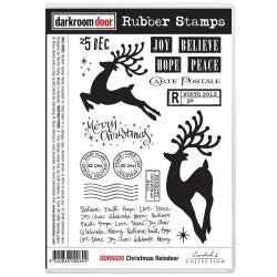 "Darkroom Door - Cling Stamps 7""x5"" - Christmas Reindeer"